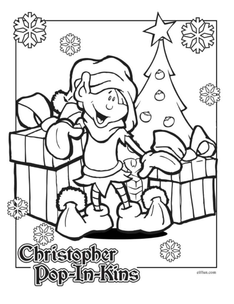 its christmas in july coloring pages
