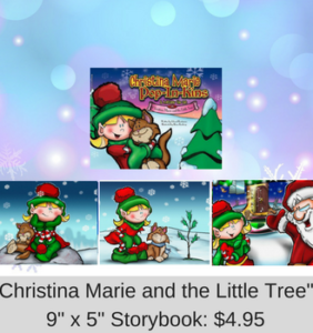 Christina Marie and the Little Tree 9X5